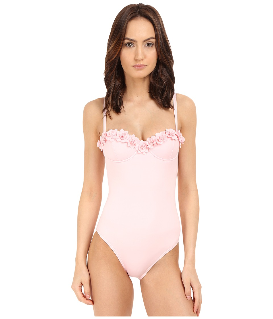 Kate Spade New York - Spring 17 Underwire Maillot (Pastry Pink) Women's Swimsuits One Piece