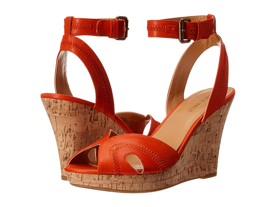 Nine West - Brave It (Orange Synthetic) Women's Shoes