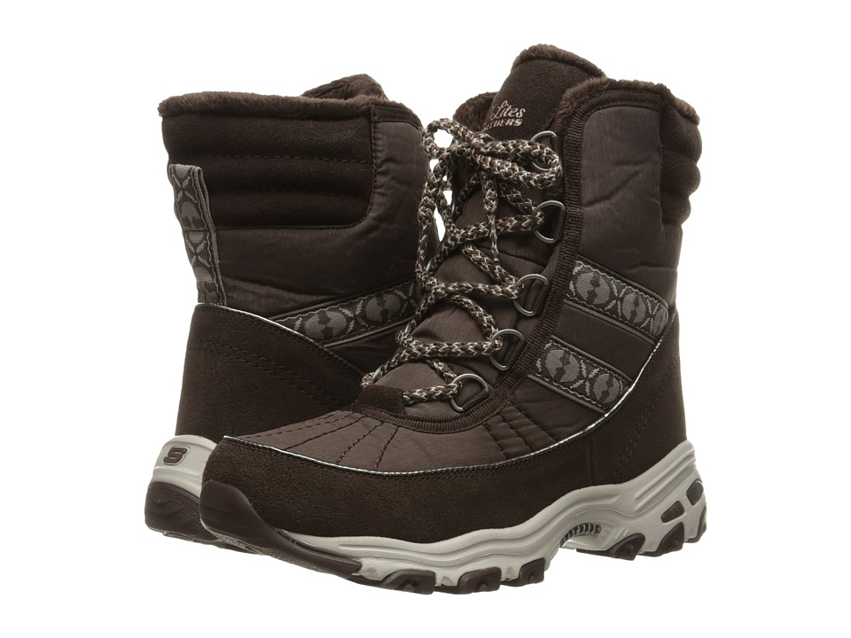 SKECHERS - D'Lites - Chateau (Chocolate) Women's Lace-up Boots
