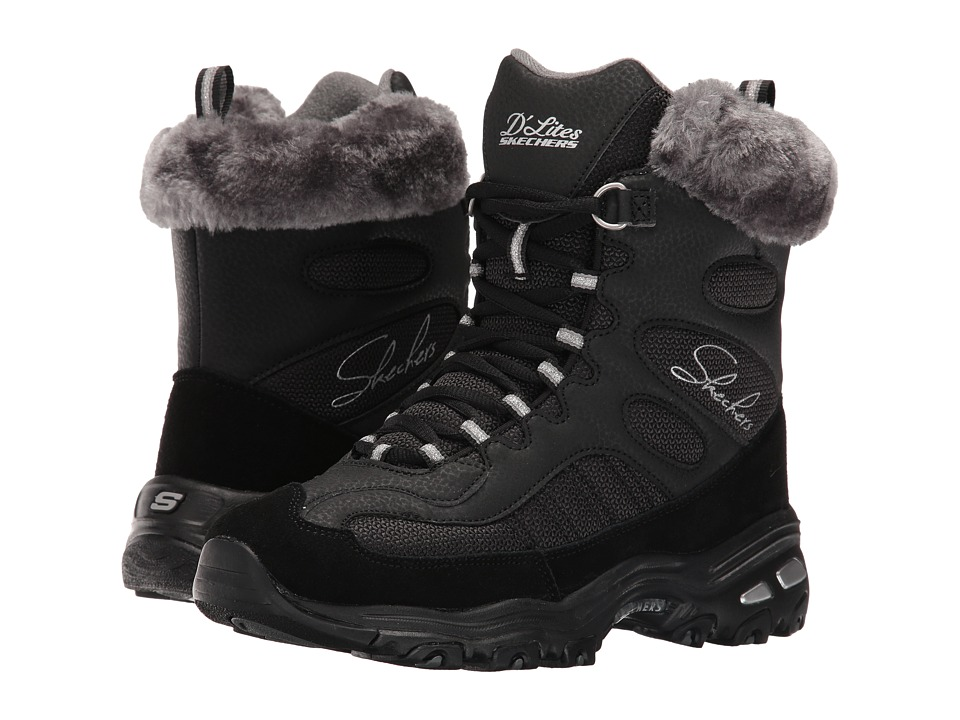 SKECHERS - D'Lites - Chalet (Black) Women's Lace-up Boots