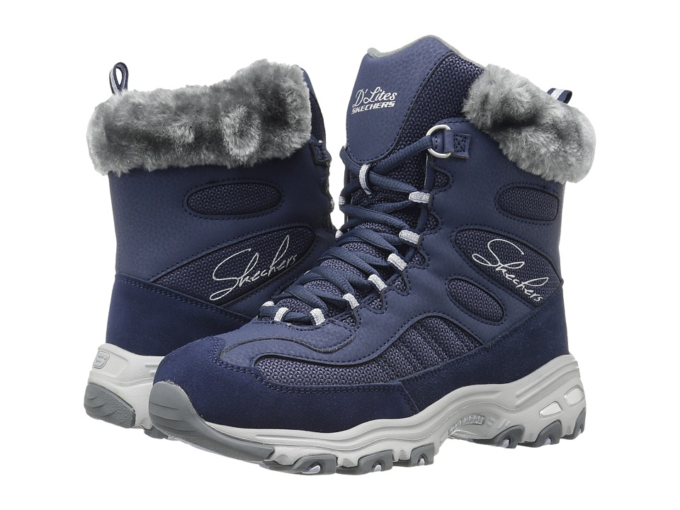 SKECHERS - D'Lites - Chalet (Navy) Women's Lace-up Boots