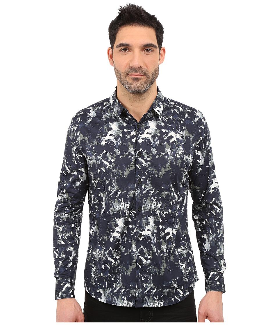 7 Diamonds Tempest Long Sleeve Shirt (Blue) Men