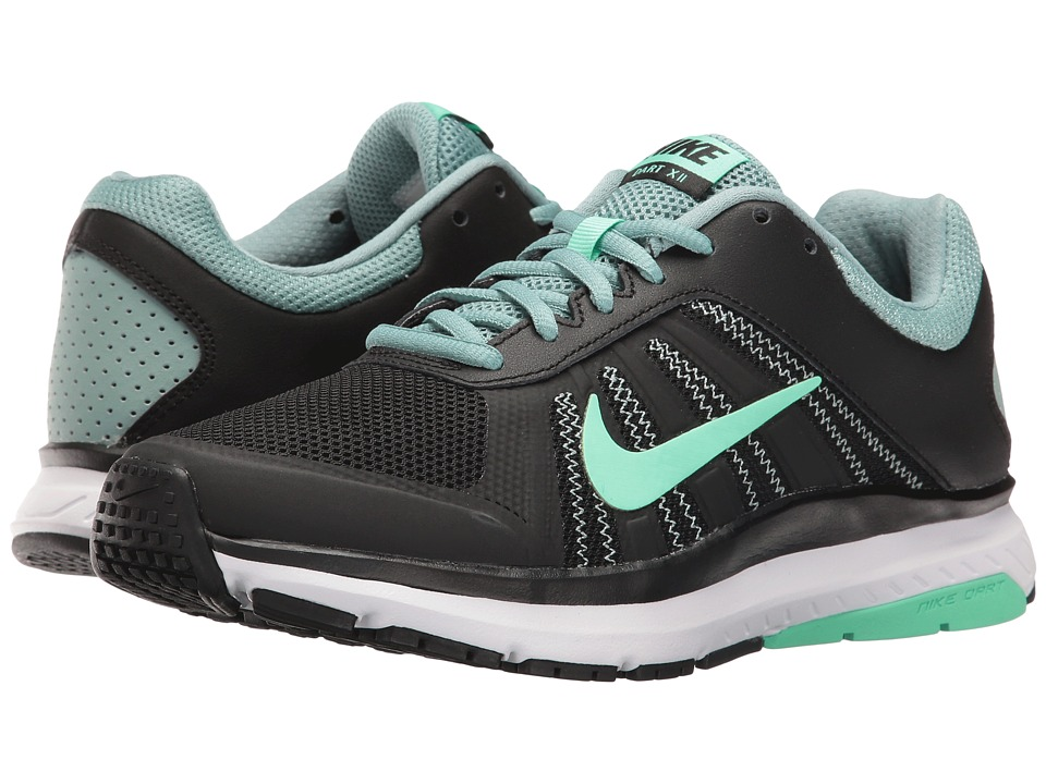 Nike - Dart 12 (Black/Green Glow/Cannon/White) Women's Running Shoes