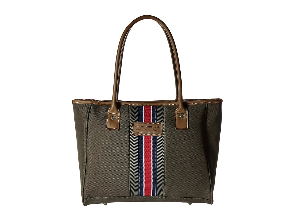 Tommy Hilfiger - Shopper Tote (Olive) Tote Handbags