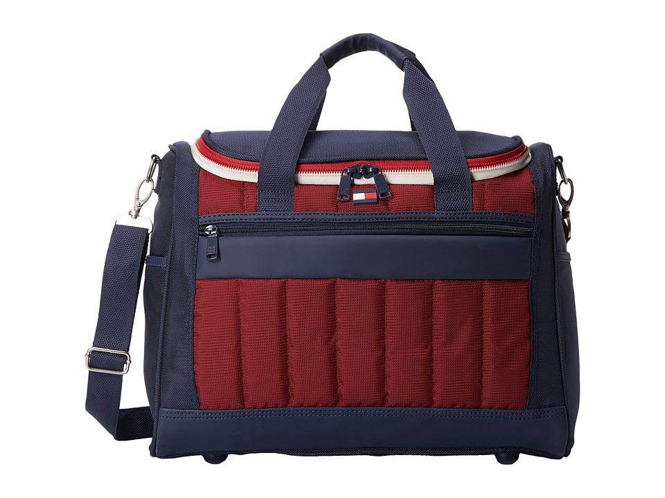 Tommy Hilfiger - 17 Sport Duffel (Navy/Burgundy) Duffel Bags