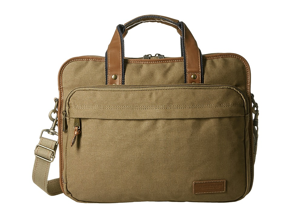 Tommy Hilfiger - Large Brief (Double Gusset) (Khaki) Briefcase Bags