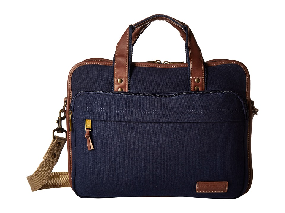 Tommy Hilfiger - Large Brief (Double Gusset) (Navy) Briefcase Bags