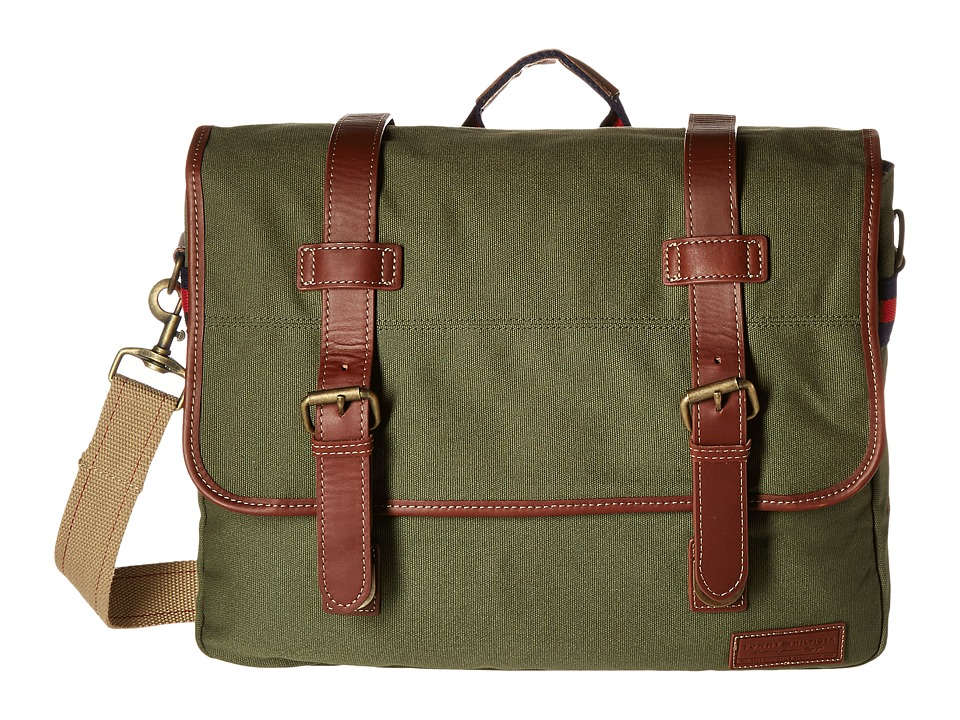 Tommy Hilfiger - Smaller Flap Over (Messenger) (Green) Messenger Bags