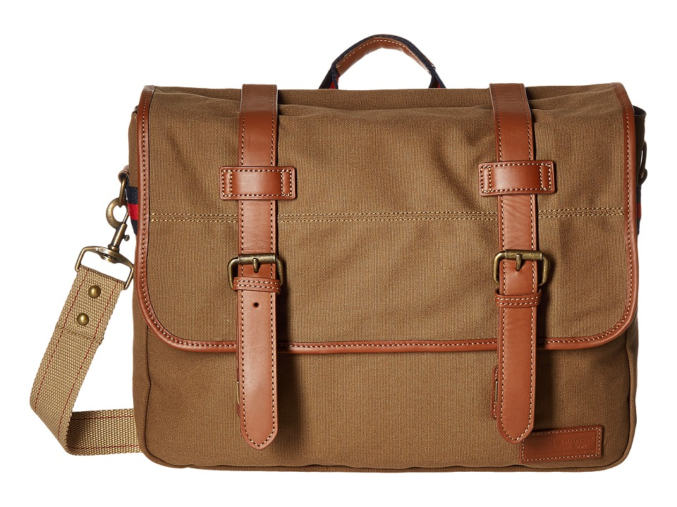 Tommy Hilfiger - Smaller Flap Over (Messenger) (Khaki) Messenger Bags