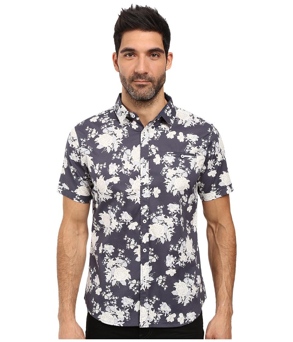 7 Diamonds Better Place Short Sleeve Shirt (Navy) Men