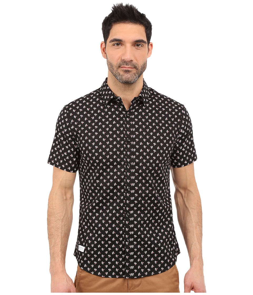 7 Diamonds Crossfire Short Sleeve Shirt (Black) Men