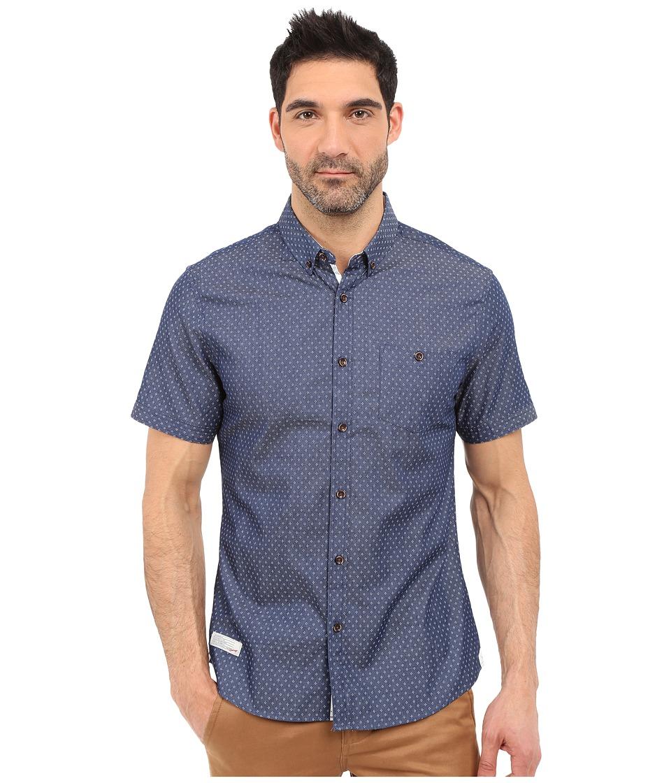 7 Diamonds Livewire Short Sleeve Shirt (Navy) Men