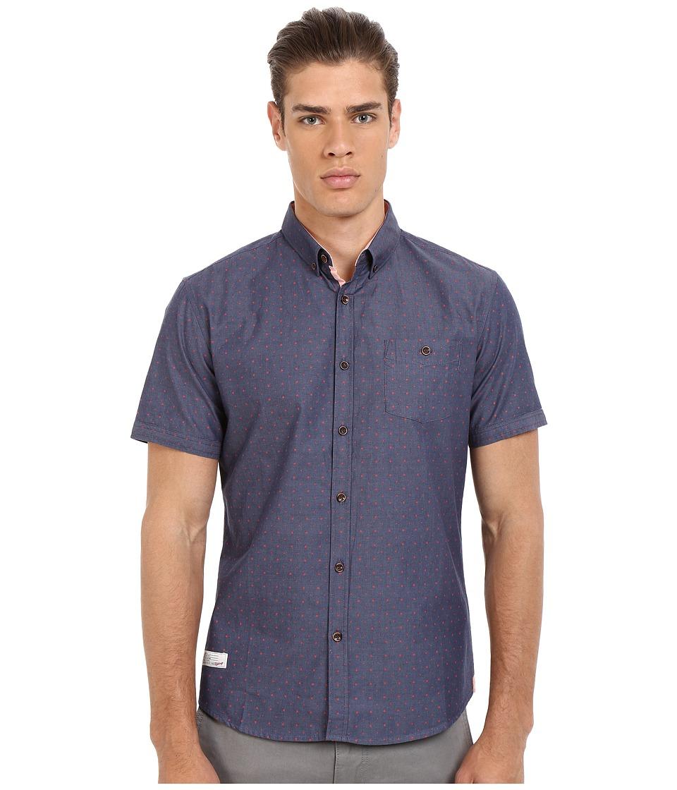 7 Diamonds Nightlife Short Sleeve Shirt (Coral) Men
