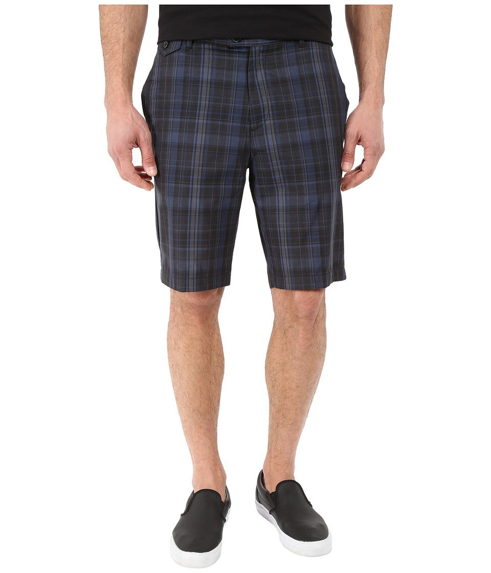 Calvin Klein - Classic Fit Plaid Short (Black) Men's Shorts