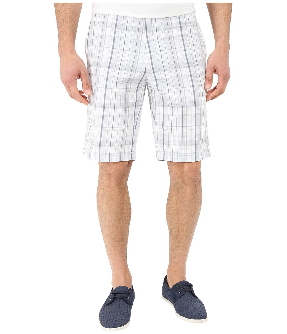 Calvin Klein - Classic Fit Plaid Short (White) Men's Shorts