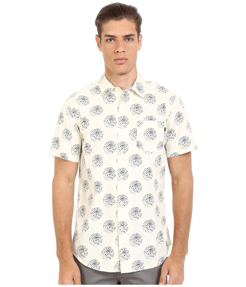 Obey - Mulholland Woven Top (Cream Multi) Men's Short Sleeve Button Up