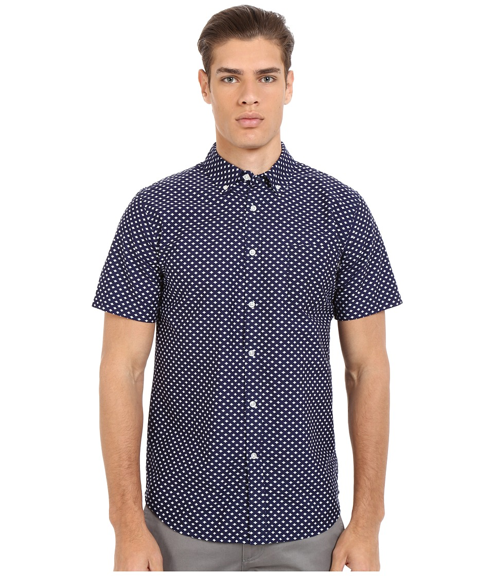 Obey - Medina Woven Top (Blue Multi) Men's Short Sleeve Button Up