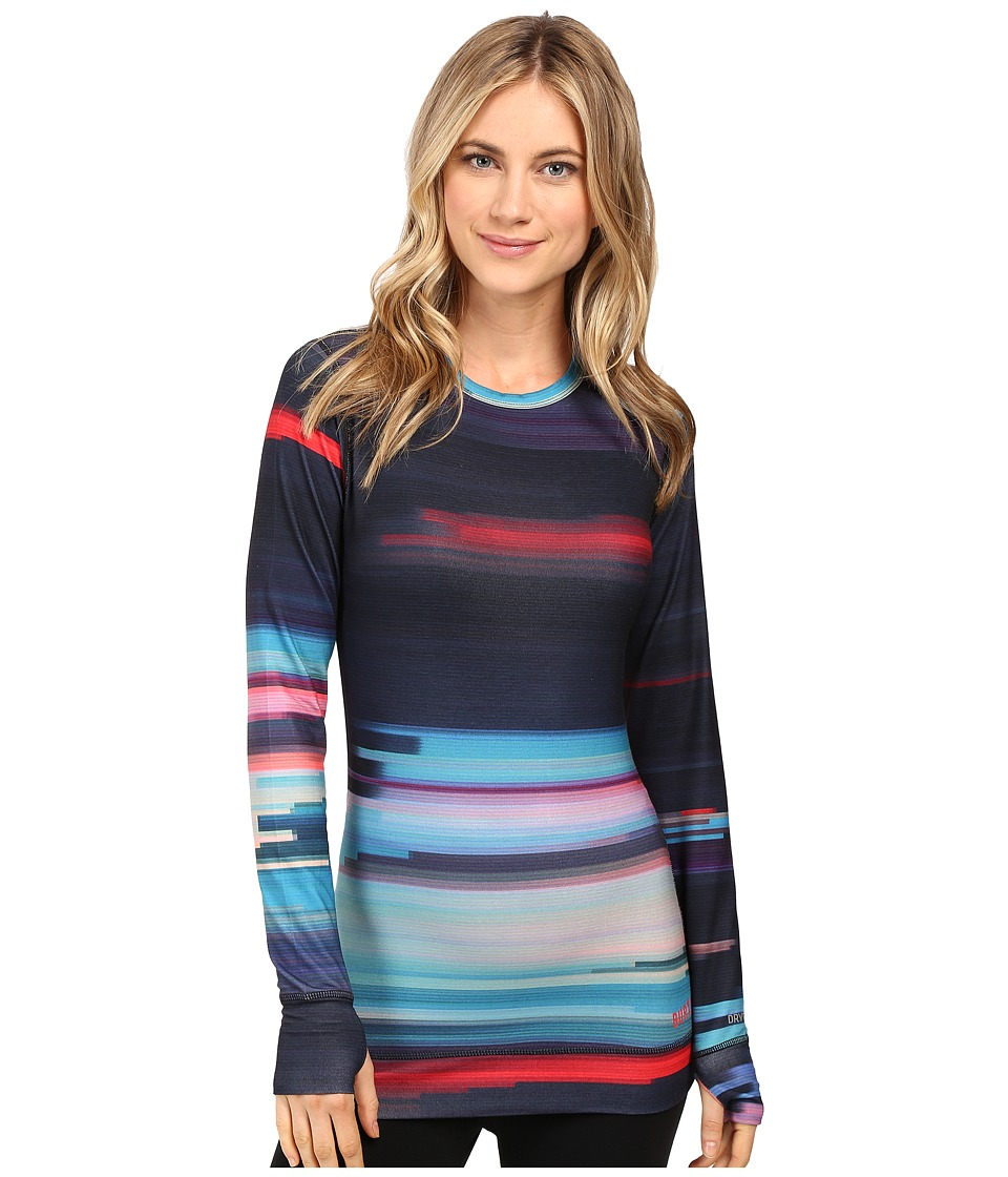 Burton - Midweight Crew (Coral Flynn Glitch) Women's Long Sleeve Pullover