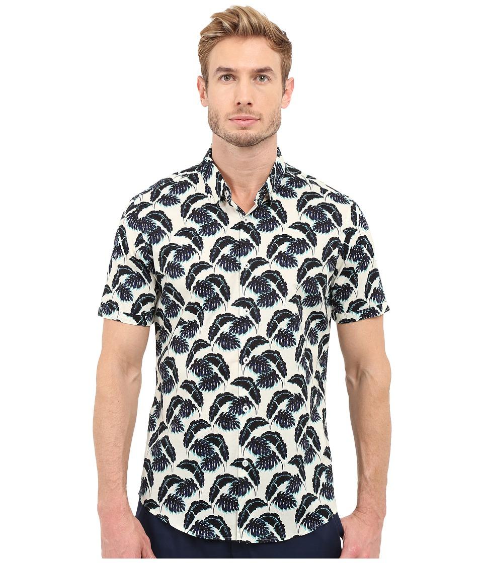 7 Diamonds Lost in Paradise Short Sleeve Shirt (Blue) Men