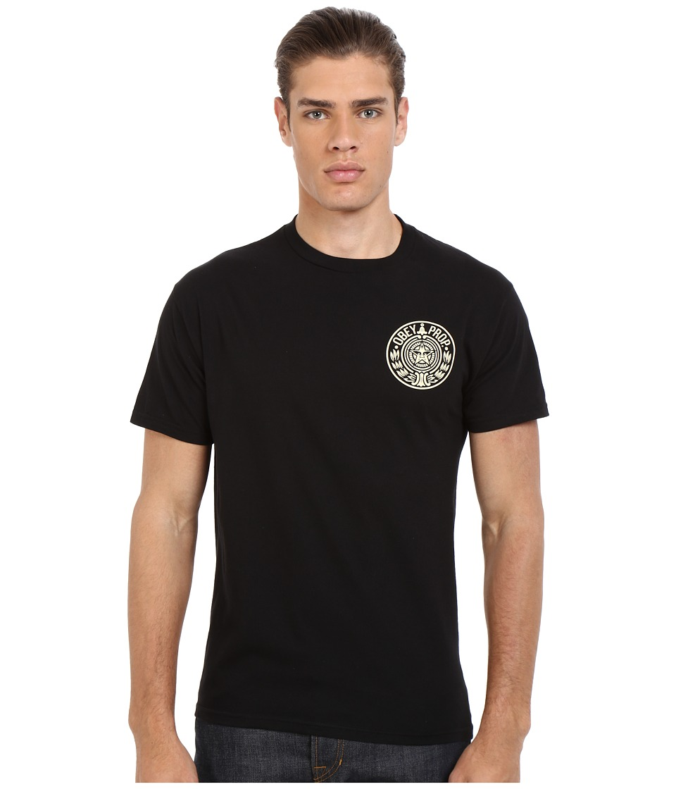 Obey - Circular Wreath Top (Black) Men's Clothing