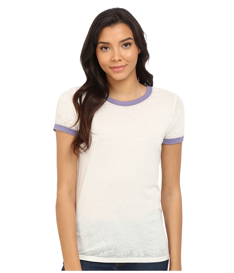 Obey - Sold Out Ringer Tee (Creme/Blue Violet) Women's T Shirt