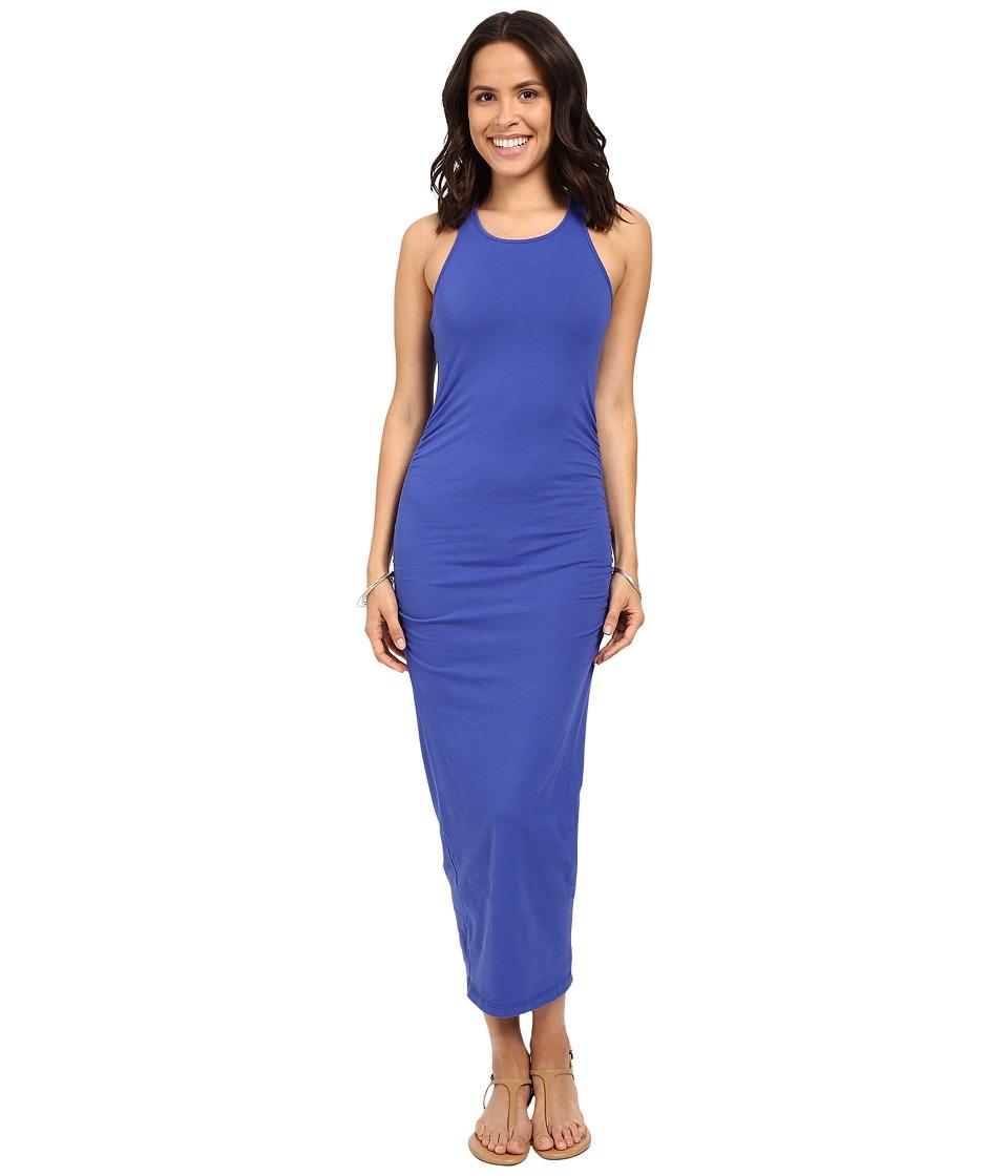 Michael Stars Racerback Dress w/ Shirring (Lapis) Women