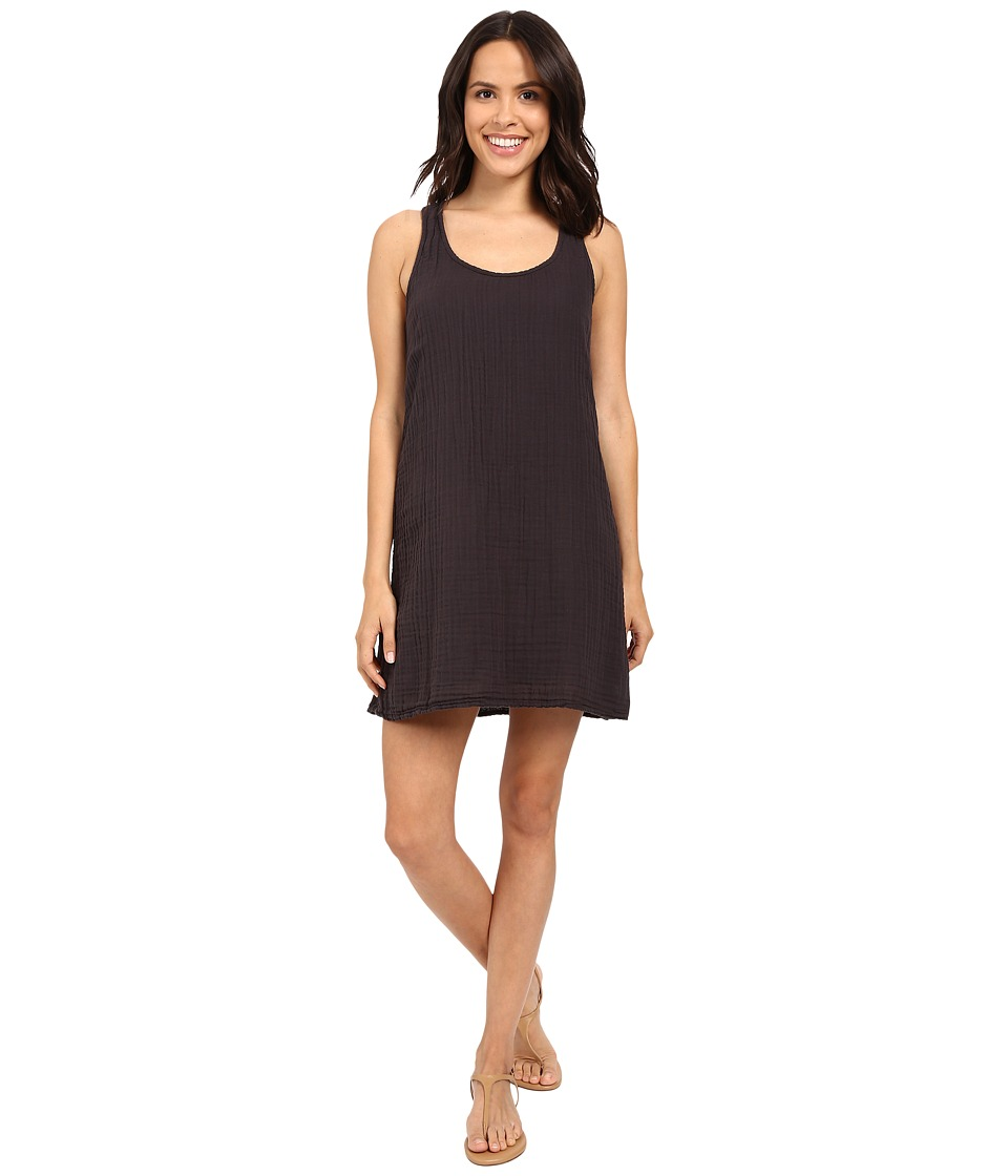 Michael Stars - Double Gauze Racerback Dress w/ Crochet (Oxide) Women's Dress
