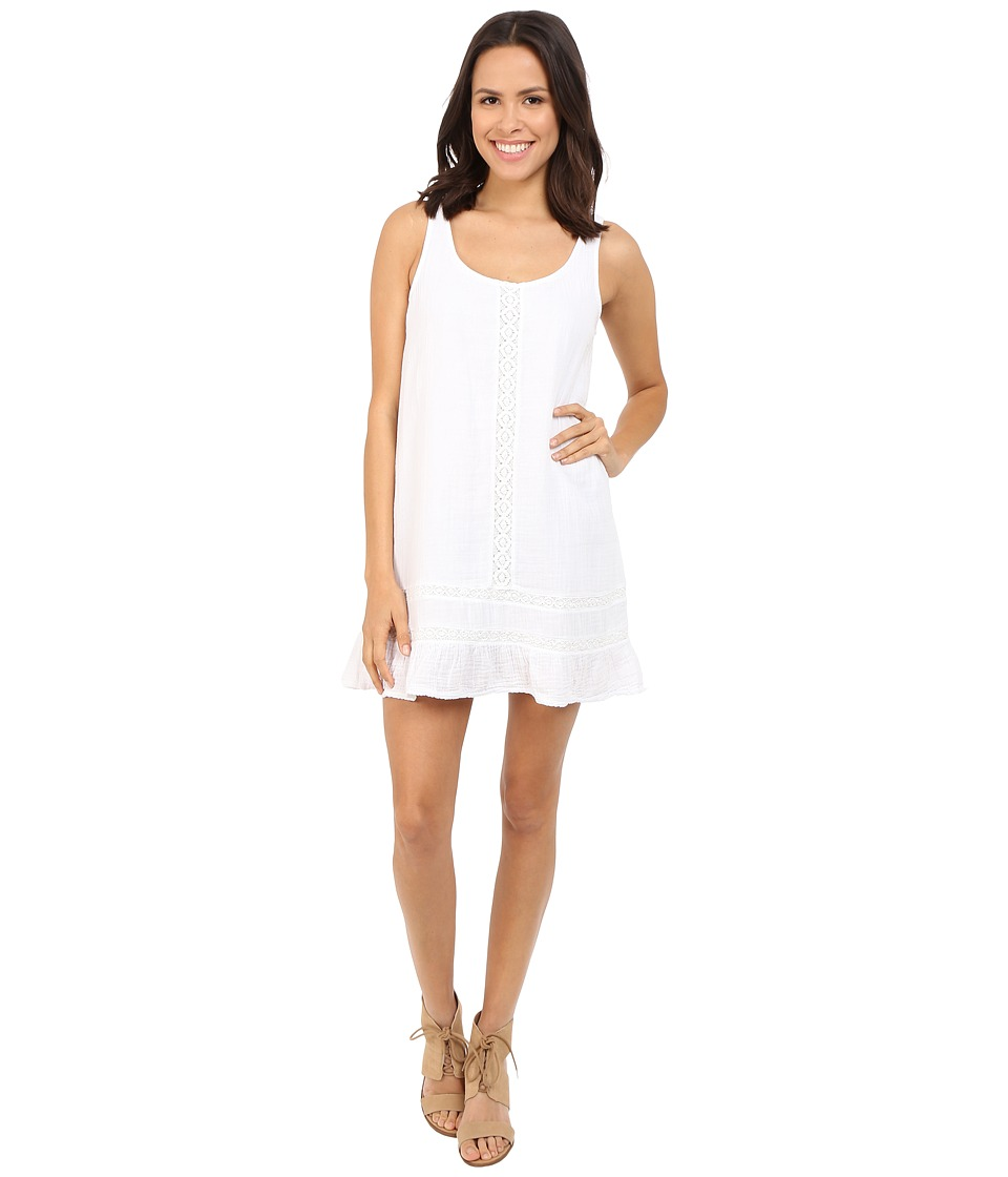 Michael Stars - Double Gauze Tank Dress w/ Crochet (White) Women's Dress
