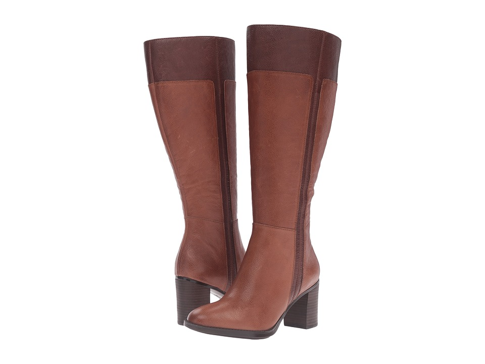 Naturalizer - Frances Wide Calf (Banana Bread/Bridal Brown Leather) Women's Boots