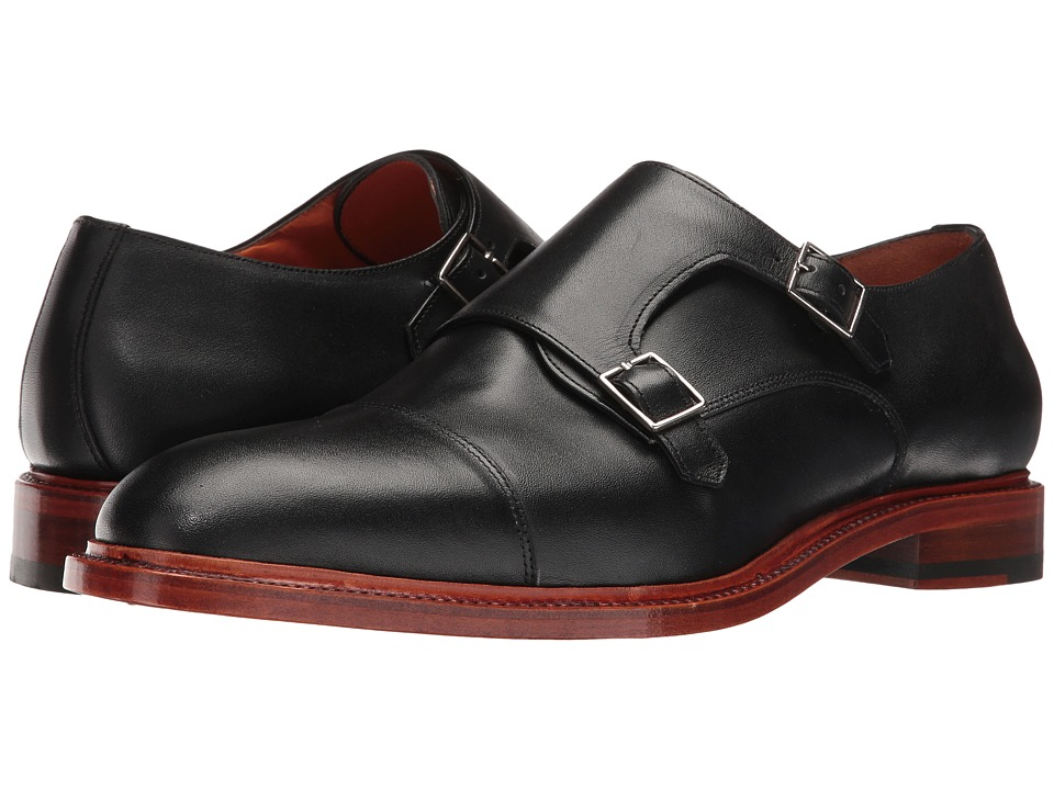 Crosby Square - Diplomat (Black) Men's Monkstrap Shoes