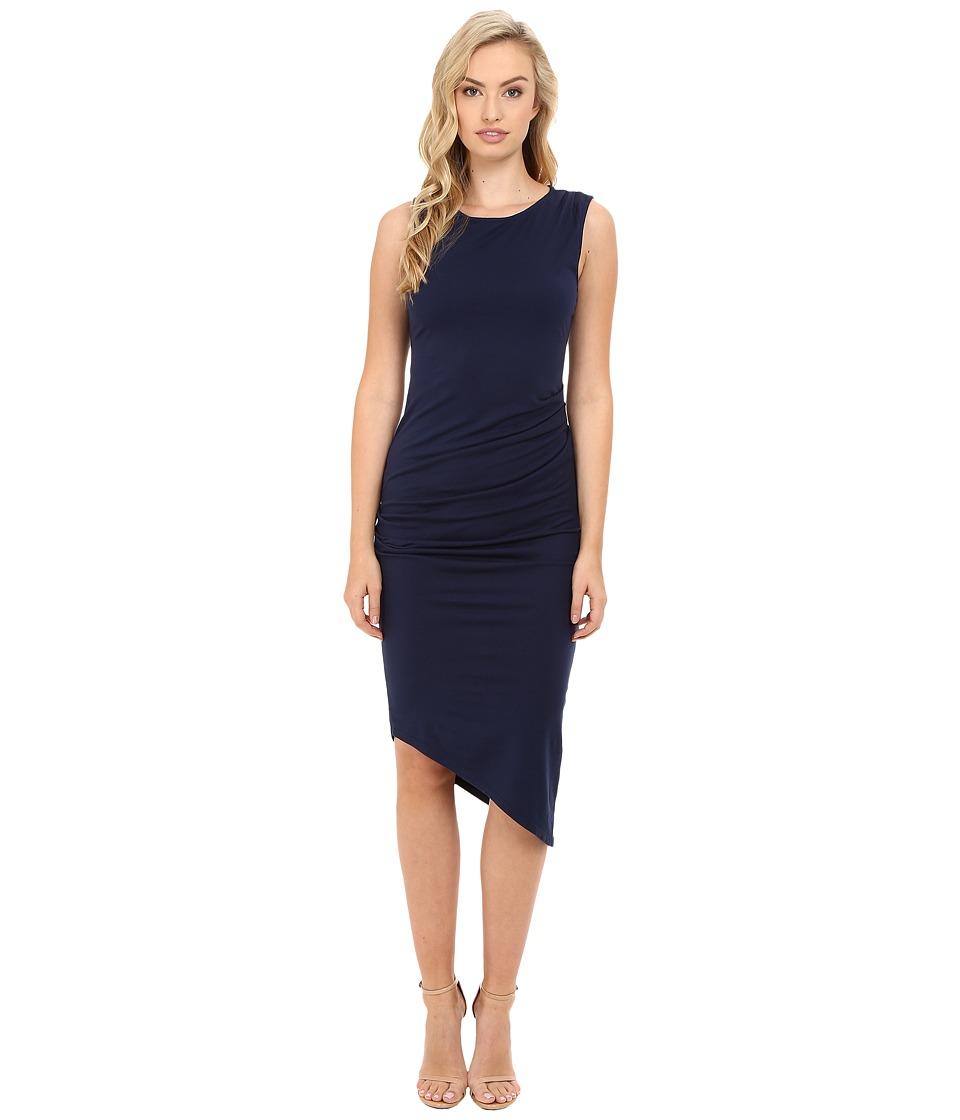 Michael Stars - Ruched Midi Tee Dress (Nocturnal) Women's Dress