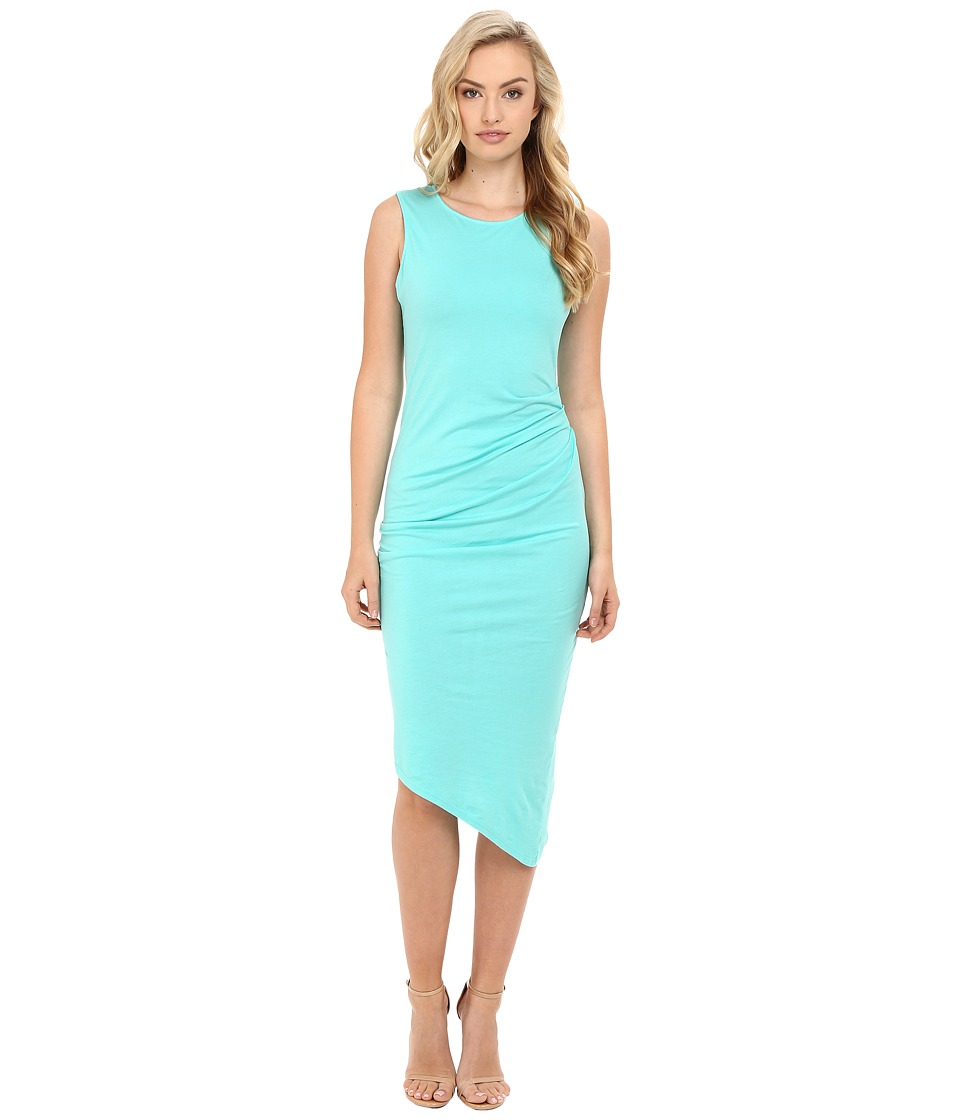 Michael Stars - Ruched Midi Tee Dress (Aruba) Women's Dress