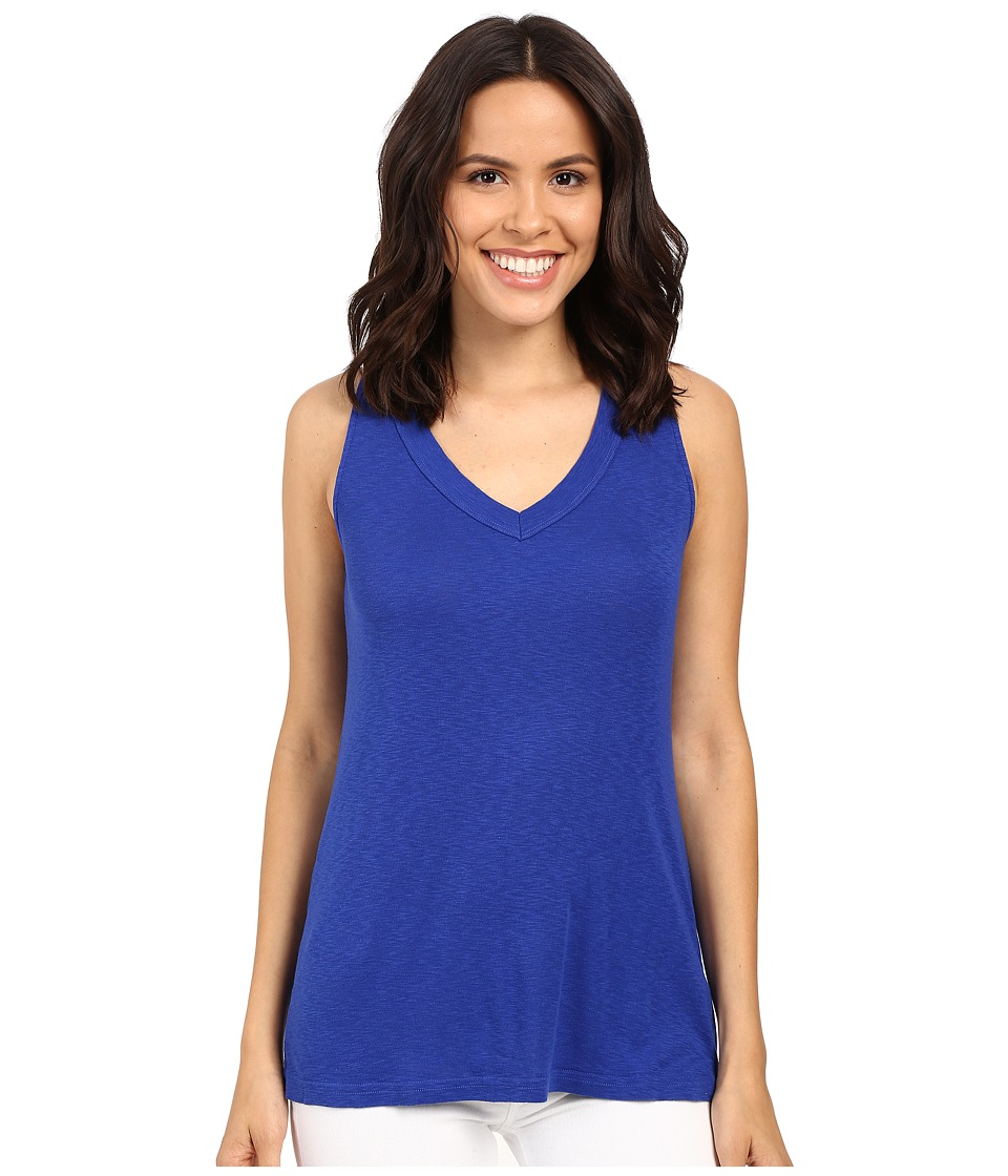 Michael Stars - Slub Vee Neck Tank Top (Lapis) Women's Sleeveless