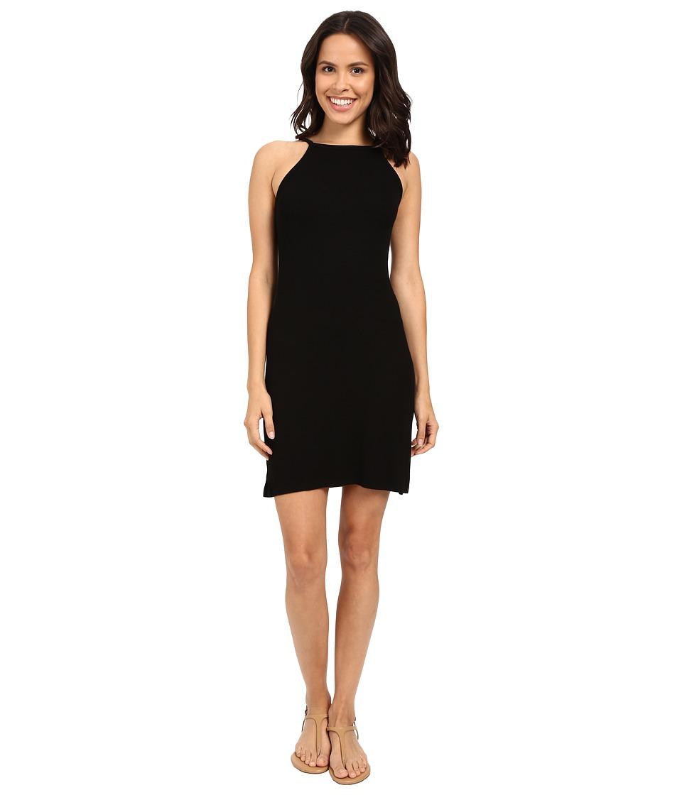 Michael Stars 2X1 Rib Tami Tank Dress (Black) Women