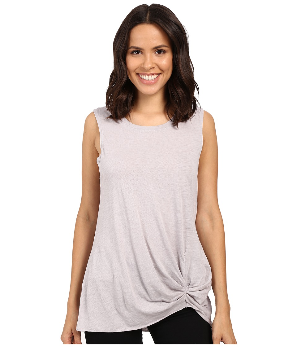 Michael Stars - Cotton Supima Slub Tank Top w/ Front Twist (Oyster) Women's Sleeveless