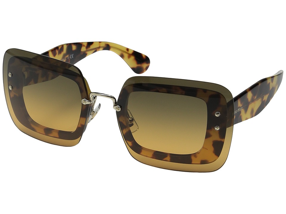 Miu Miu - 0MU 01RS (Tortoise/Brown Gradient) Fashion Sunglasses