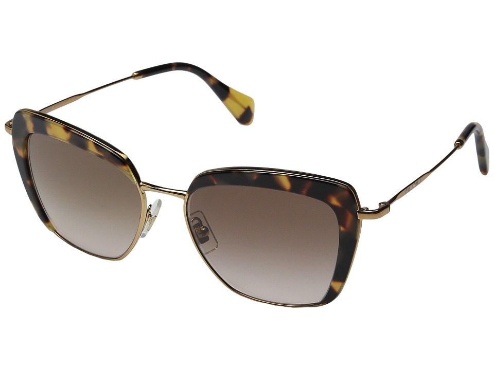Miu Miu - 0MU 52QS (Tortoise/Brown Gradient) Fashion Sunglasses
