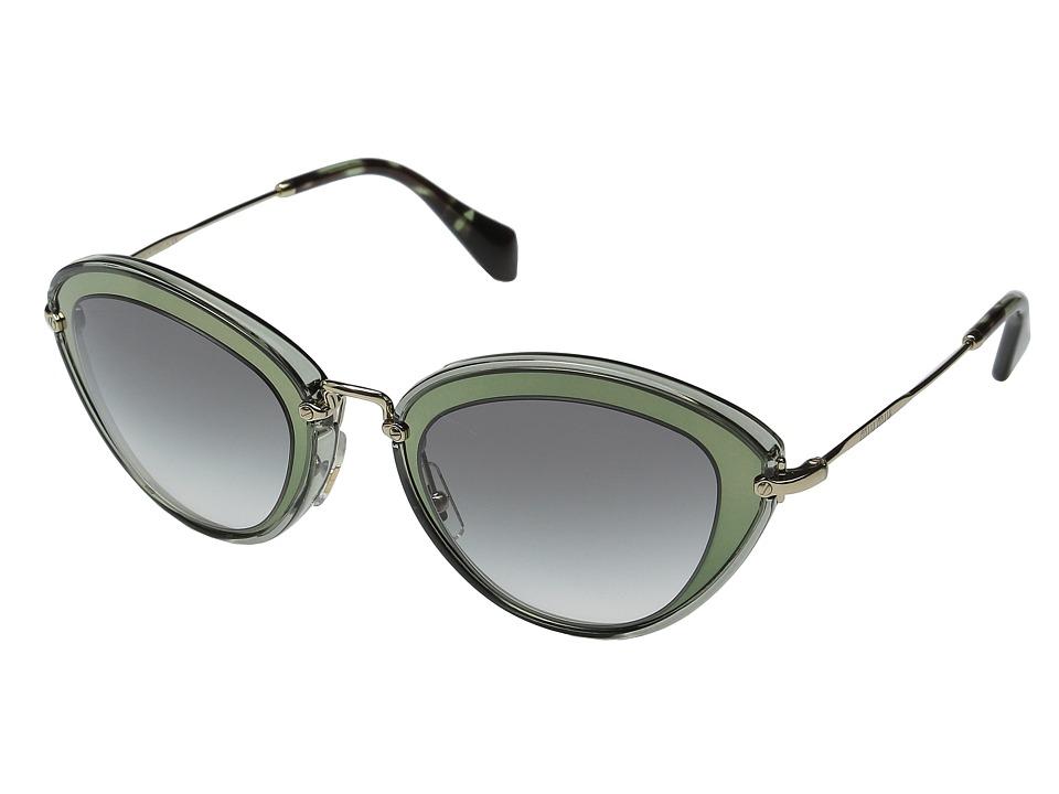 Miu Miu - 0MU 51RS (Green/Grey Gradient) Fashion Sunglasses