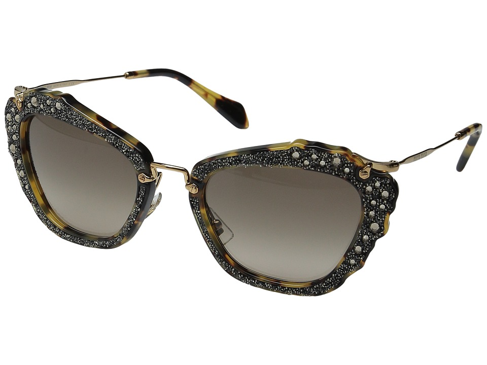 Miu Miu - 0MU 04QS (Havana/Brown Gradient) Fashion Sunglasses