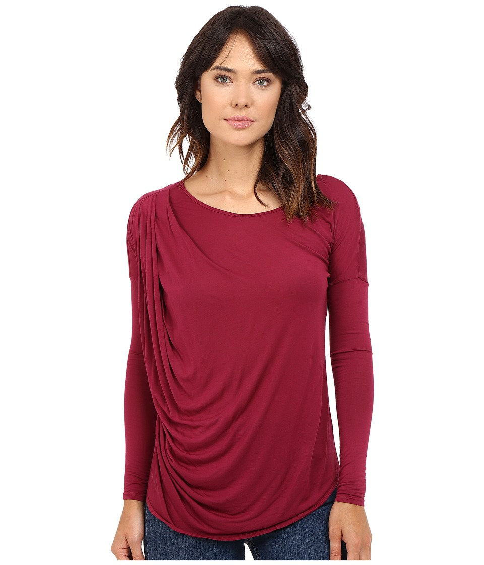 LAmade - Remi Long Sleeve Top (Oxblood) Women's Long Sleeve Pullover