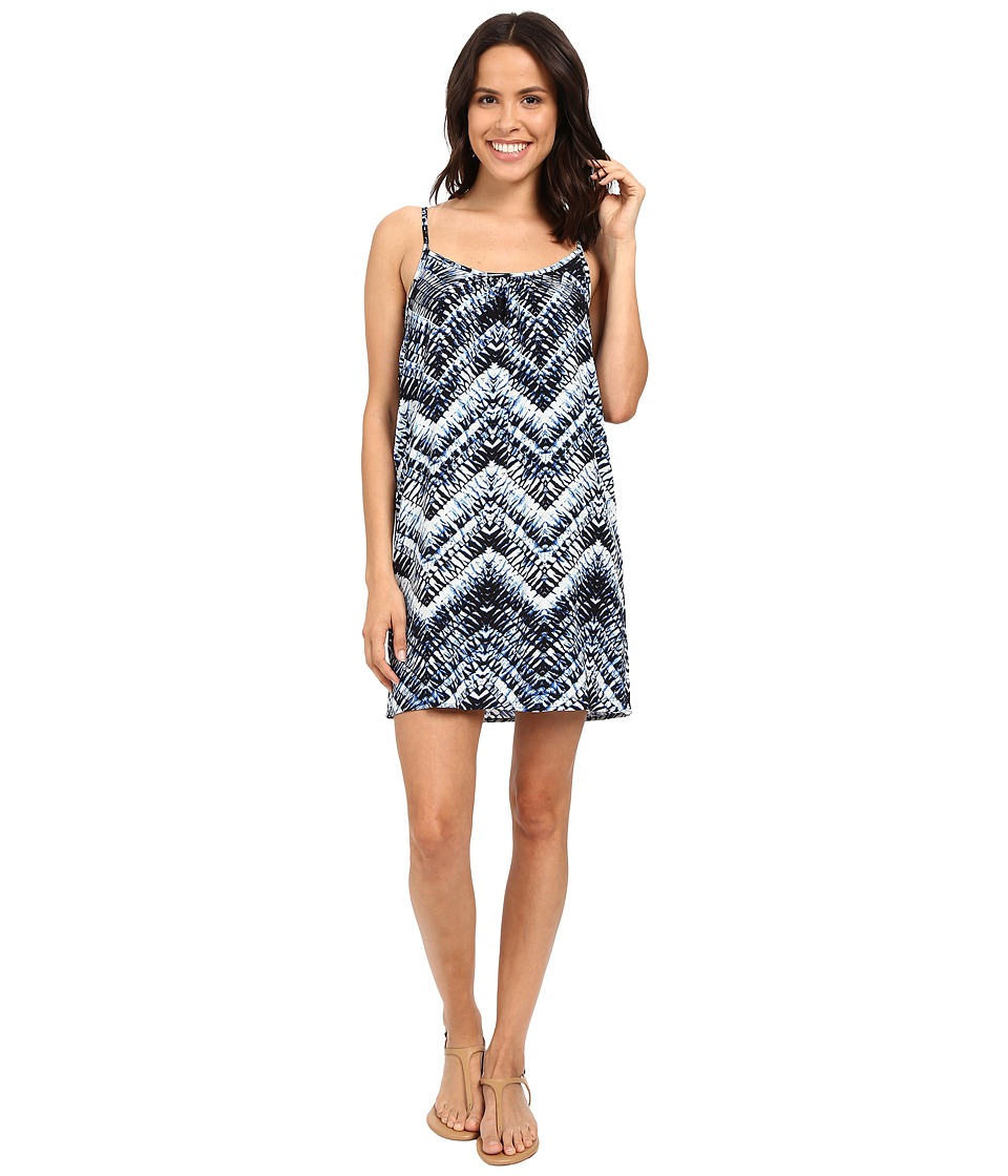 Michael Stars Azure Print Cami Swing Dress (Nocturnal) Women