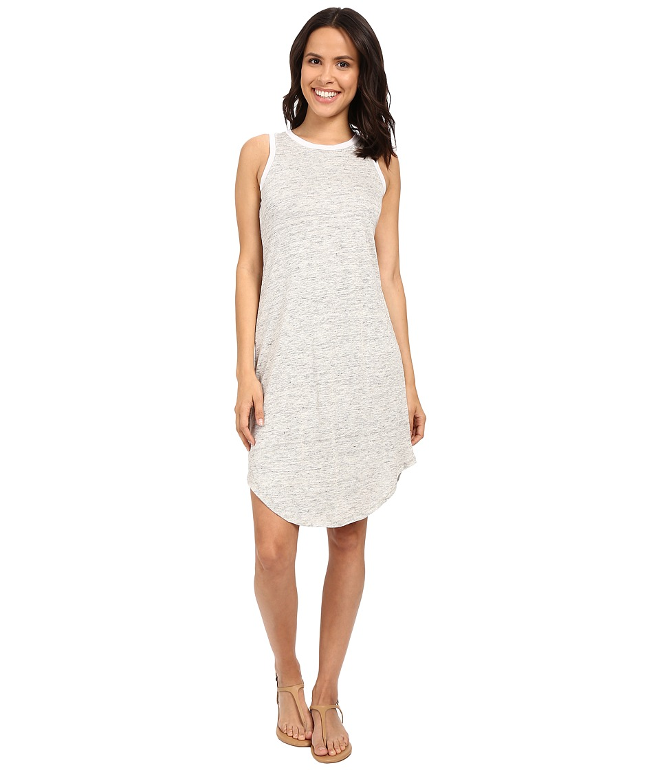 Michael Stars Linen Knit Tank Dress w/ Keyhole Back (Heather Grey) Women