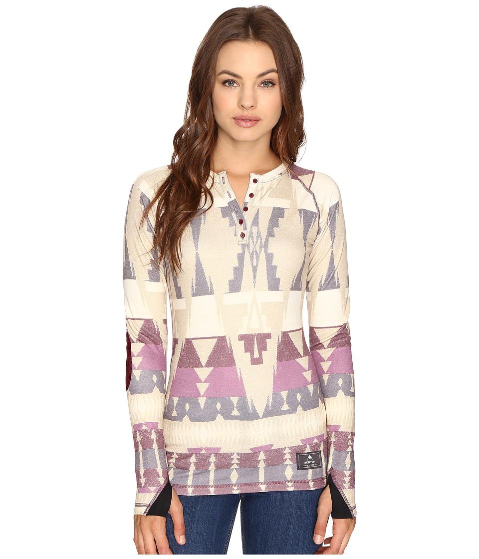 Burton - Expedition Wool Henley (Vision Quest) Women's T Shirt
