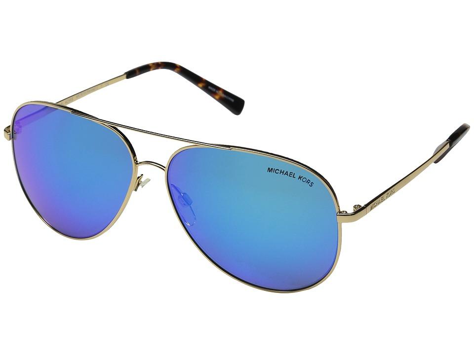 Michael Kors - Kendall I (Gold/Turquoise Mirror) Fashion Sunglasses