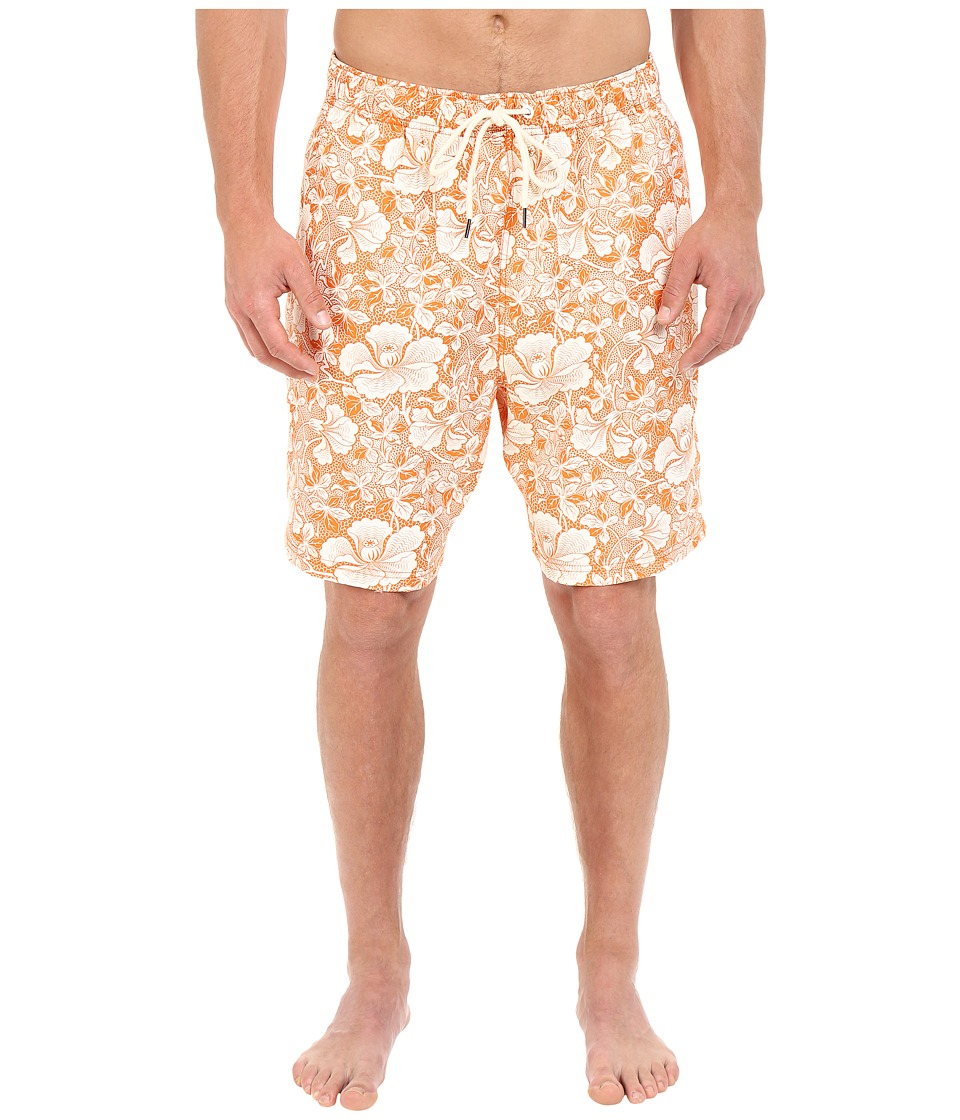 Nautica Big & Tall - Big Tall Quick Dry Floral Print Swim Trunk (Fireside) Men's Swimwear