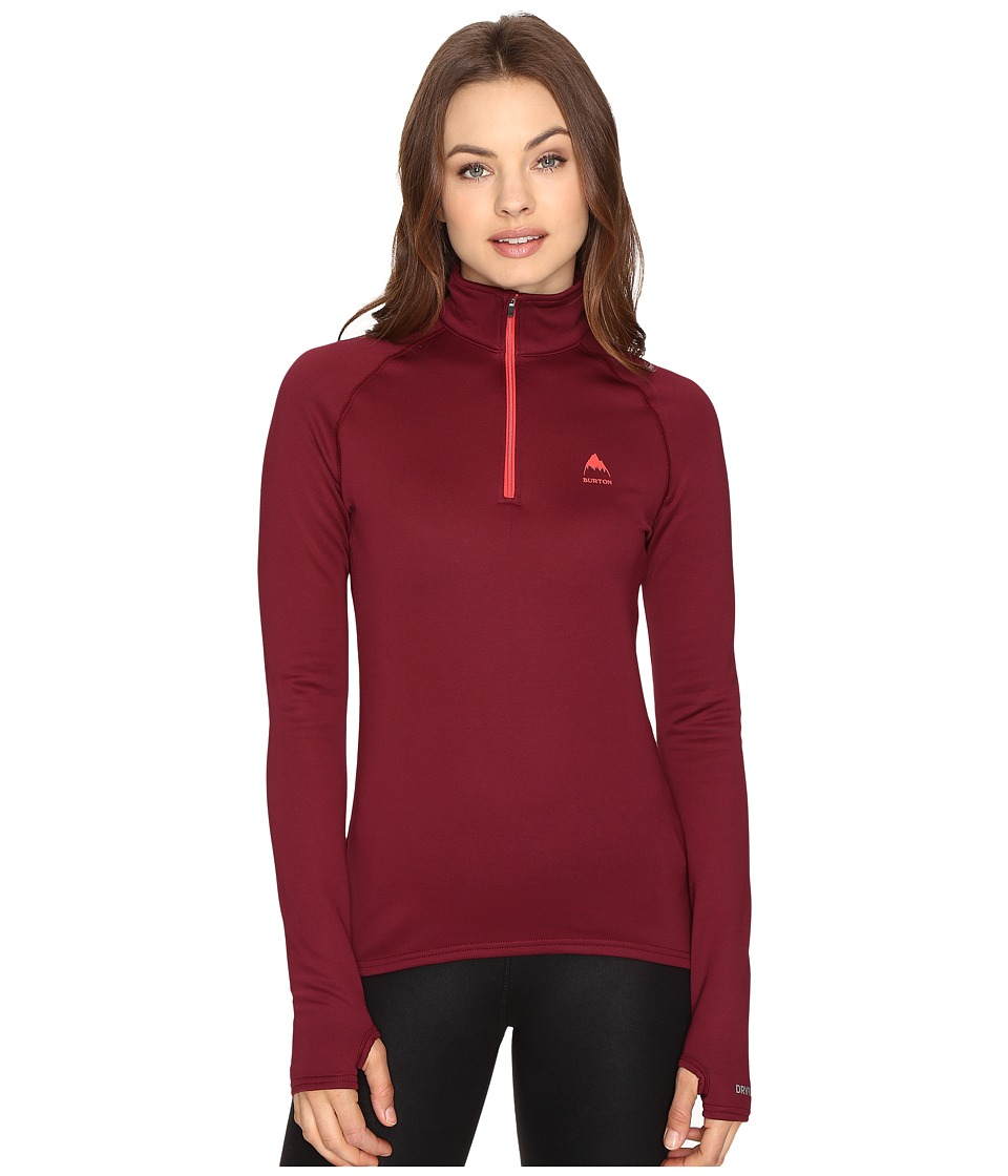 Burton - Expedition 1/4 Zip Fleece (Sangria) Women's Sweatshirt