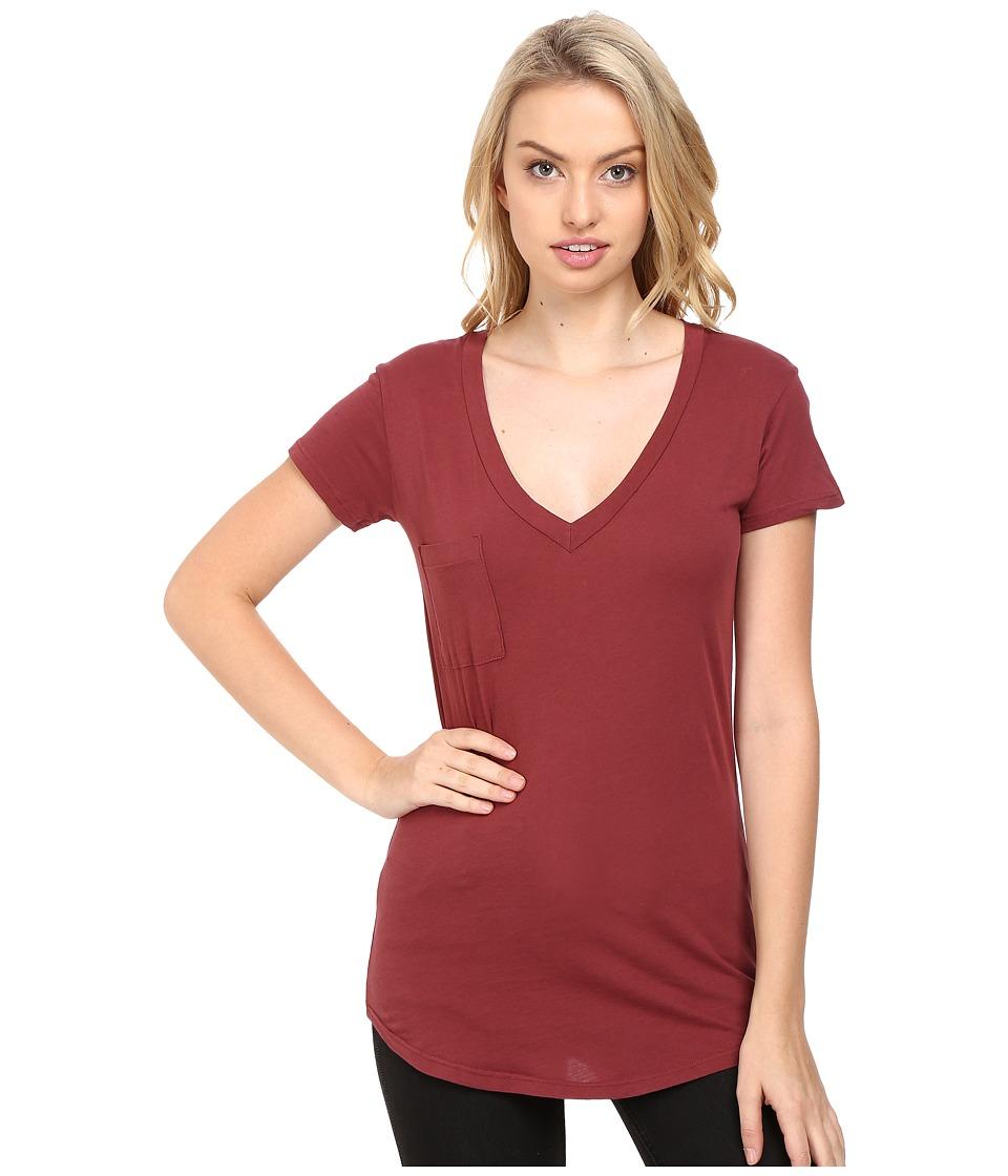 LAmade - V-Pocket Tee - Tissue Jersey (Terra) Women's Short Sleeve Pullover