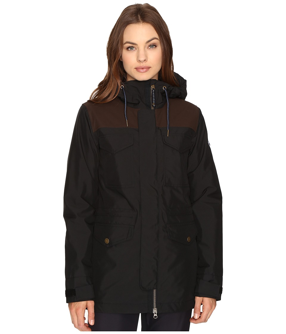 Burton - Fremont Jacket (True Black/True Black Waxed) Women's Coat