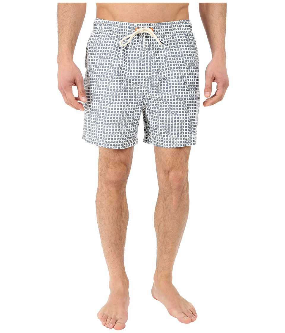 Nautica - Quick Dry Geo Print Swim Trunk (Sailcream) Men's Swimwear