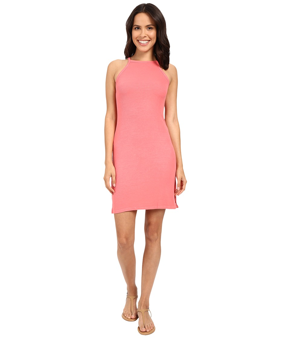 Michael Stars 2X1 Rib Tami Tank Dress (Coral Sun) Women